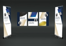 stand mock up with banners